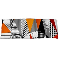 Contrast Hero Triangle Plaid Circle Wave Chevron Orange White Black Line Body Pillow Case Dakimakura (two Sides) by Alisyart