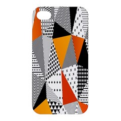 Contrast Hero Triangle Plaid Circle Wave Chevron Orange White Black Line Apple Iphone 4/4s Premium Hardshell Case by Alisyart