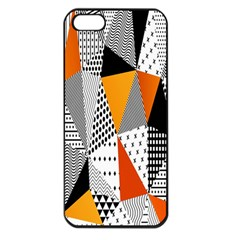 Contrast Hero Triangle Plaid Circle Wave Chevron Orange White Black Line Apple Iphone 5 Seamless Case (black) by Alisyart