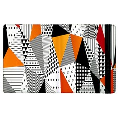 Contrast Hero Triangle Plaid Circle Wave Chevron Orange White Black Line Apple Ipad 3/4 Flip Case by Alisyart