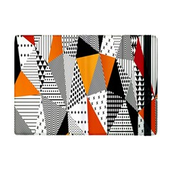 Contrast Hero Triangle Plaid Circle Wave Chevron Orange White Black Line Apple Ipad Mini Flip Case by Alisyart