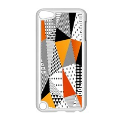 Contrast Hero Triangle Plaid Circle Wave Chevron Orange White Black Line Apple Ipod Touch 5 Case (white) by Alisyart