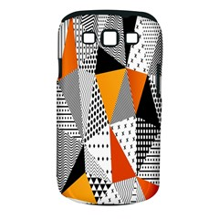 Contrast Hero Triangle Plaid Circle Wave Chevron Orange White Black Line Samsung Galaxy S Iii Classic Hardshell Case (pc+silicone)