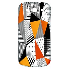 Contrast Hero Triangle Plaid Circle Wave Chevron Orange White Black Line Samsung Galaxy S3 S Iii Classic Hardshell Back Case by Alisyart