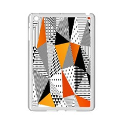 Contrast Hero Triangle Plaid Circle Wave Chevron Orange White Black Line Ipad Mini 2 Enamel Coated Cases