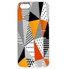 Contrast Hero Triangle Plaid Circle Wave Chevron Orange White Black Line Apple Iphone 5 Hardshell Case With Stand by Alisyart