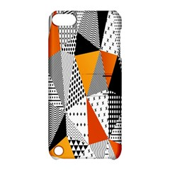 Contrast Hero Triangle Plaid Circle Wave Chevron Orange White Black Line Apple Ipod Touch 5 Hardshell Case With Stand by Alisyart