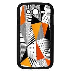 Contrast Hero Triangle Plaid Circle Wave Chevron Orange White Black Line Samsung Galaxy Grand Duos I9082 Case (black)