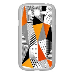 Contrast Hero Triangle Plaid Circle Wave Chevron Orange White Black Line Samsung Galaxy Grand Duos I9082 Case (white)