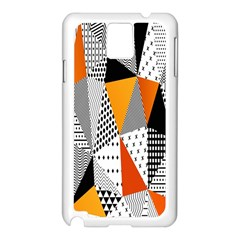 Contrast Hero Triangle Plaid Circle Wave Chevron Orange White Black Line Samsung Galaxy Note 3 N9005 Case (white) by Alisyart