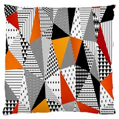 Contrast Hero Triangle Plaid Circle Wave Chevron Orange White Black Line Standard Flano Cushion Case (one Side)