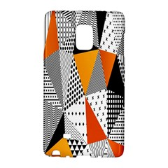 Contrast Hero Triangle Plaid Circle Wave Chevron Orange White Black Line Galaxy Note Edge by Alisyart