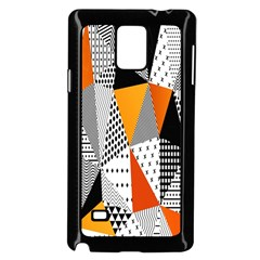 Contrast Hero Triangle Plaid Circle Wave Chevron Orange White Black Line Samsung Galaxy Note 4 Case (black) by Alisyart