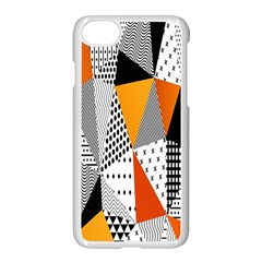 Contrast Hero Triangle Plaid Circle Wave Chevron Orange White Black Line Apple Iphone 7 Seamless Case (white) by Alisyart
