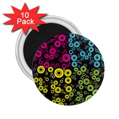 Circle Ring Color Purple Pink Yellow Blue 2 25  Magnets (10 Pack)  by Alisyart