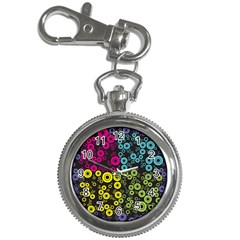 Circle Ring Color Purple Pink Yellow Blue Key Chain Watches by Alisyart