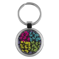 Circle Ring Color Purple Pink Yellow Blue Key Chains (round)