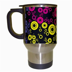 Circle Ring Color Purple Pink Yellow Blue Travel Mugs (white) by Alisyart