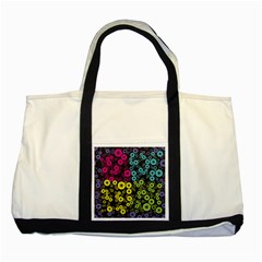 Circle Ring Color Purple Pink Yellow Blue Two Tone Tote Bag by Alisyart