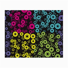 Circle Ring Color Purple Pink Yellow Blue Small Glasses Cloth (2 Side) by Alisyart