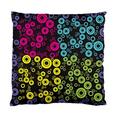 Circle Ring Color Purple Pink Yellow Blue Standard Cushion Case (two Sides) by Alisyart