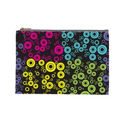 Circle Ring Color Purple Pink Yellow Blue Cosmetic Bag (large)  by Alisyart