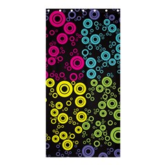 Circle Ring Color Purple Pink Yellow Blue Shower Curtain 36  X 72  (stall)