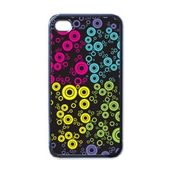 Circle Ring Color Purple Pink Yellow Blue Apple Iphone 4 Case (black) by Alisyart