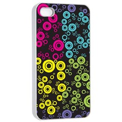 Circle Ring Color Purple Pink Yellow Blue Apple Iphone 4/4s Seamless Case (white) by Alisyart