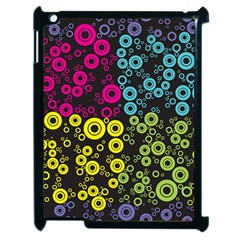 Circle Ring Color Purple Pink Yellow Blue Apple Ipad 2 Case (black) by Alisyart