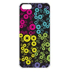 Circle Ring Color Purple Pink Yellow Blue Apple Iphone 5 Seamless Case (white) by Alisyart