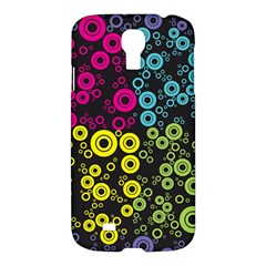Circle Ring Color Purple Pink Yellow Blue Samsung Galaxy S4 I9500/i9505 Hardshell Case