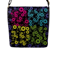 Circle Ring Color Purple Pink Yellow Blue Flap Messenger Bag (l)  by Alisyart