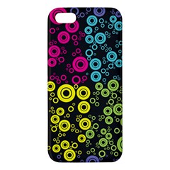 Circle Ring Color Purple Pink Yellow Blue Iphone 5s/ Se Premium Hardshell Case by Alisyart