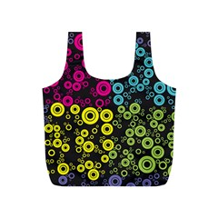 Circle Ring Color Purple Pink Yellow Blue Full Print Recycle Bags (s)  by Alisyart