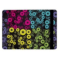 Circle Ring Color Purple Pink Yellow Blue Samsung Galaxy Tab Pro 12 2  Flip Case