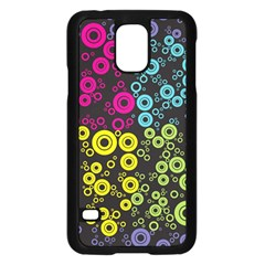 Circle Ring Color Purple Pink Yellow Blue Samsung Galaxy S5 Case (black) by Alisyart