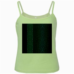 Fabric Blue Batik Green Spaghetti Tank by Alisyart