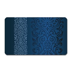 Fabric Blue Batik Magnet (rectangular) by Alisyart