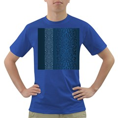 Fabric Blue Batik Dark T Shirt by Alisyart