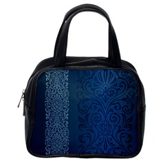 Fabric Blue Batik Classic Handbags (one Side) by Alisyart