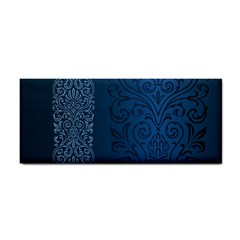 Fabric Blue Batik Cosmetic Storage Cases by Alisyart