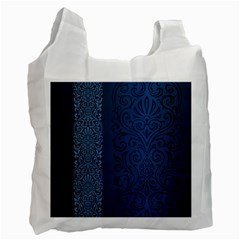 Fabric Blue Batik Recycle Bag (two Side)  by Alisyart