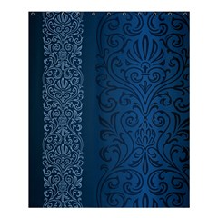 Fabric Blue Batik Shower Curtain 60  X 72  (medium)