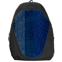 Fabric Blue Batik Backpack Bag by Alisyart