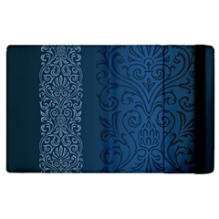 Fabric Blue Batik Apple Ipad 3/4 Flip Case by Alisyart