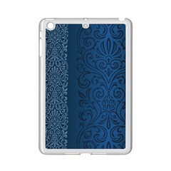 Fabric Blue Batik Ipad Mini 2 Enamel Coated Cases