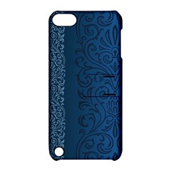 Fabric Blue Batik Apple Ipod Touch 5 Hardshell Case With Stand by Alisyart