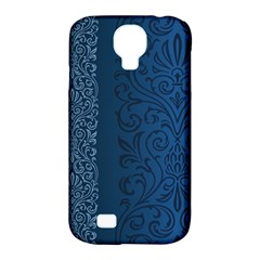 Fabric Blue Batik Samsung Galaxy S4 Classic Hardshell Case (pc+silicone)