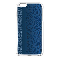 Fabric Blue Batik Apple Iphone 6 Plus/6s Plus Enamel White Case by Alisyart